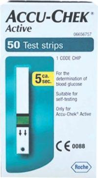 ACCU-CHEK ACTIVE GLUCOSE STRIPS 50