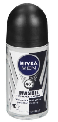 NIVEA R/ON 50ML MEN BLACK WHITE PWD 1