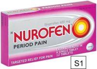 NUROFEN PERIOD PAIN TABS 400MG 12