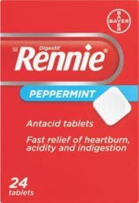 RENNIES PEPPERMINT TABS 24