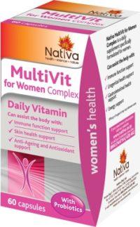 NATIVA MULTIVITAMIN COMP WOMEN CAPS 60