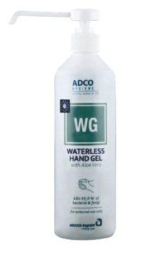 ADCO HYG WG W/LESS H/SAN LONG NOSE GEL 500