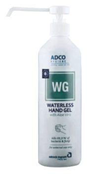 ADCO HYG WG W/LESS H/SANT LTN PUMP GEL 250